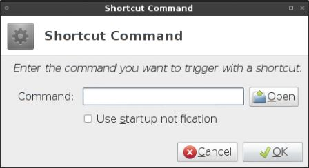 Set shortcut command