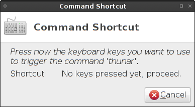 Set shortcut keys